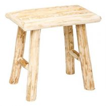 "Tabouret ""Woody"" 32cm Naturel"