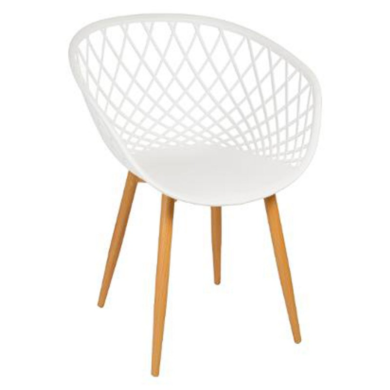 Lot de 4 chaises design zina 81cm blanc - Lot de 4 chaises design ...