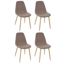 "Lot de 4 Chaises Design ""Roka"" 87cm Taupe"