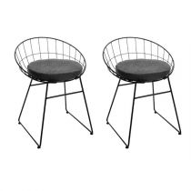 "Lot de 2 Chaises Design ""Modern"" 64cm Noir"