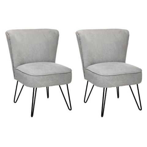 lot de 2 fauteuils design sevven gris clair. Black Bedroom Furniture Sets. Home Design Ideas