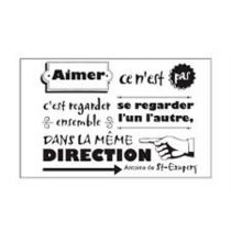 "Stickers ""Citation Antoine St-Exupery"" 50x70cm Noir"