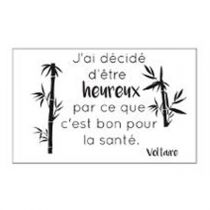 "Stickers ""Citation Voltaire"" 50x70cm Noir"