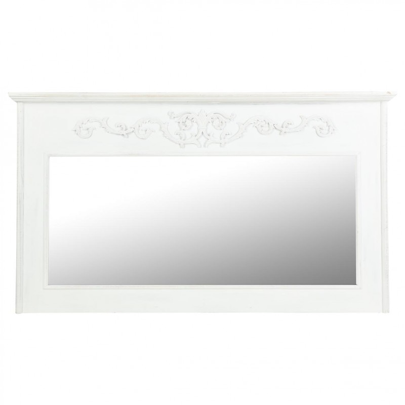 miroir mural rectangulaire trumeau 95cm blanc. Black Bedroom Furniture Sets. Home Design Ideas