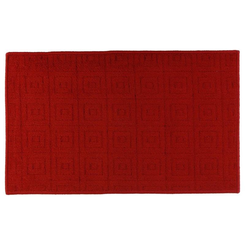 tapis motif 50x80cm rouge. Black Bedroom Furniture Sets. Home Design Ideas