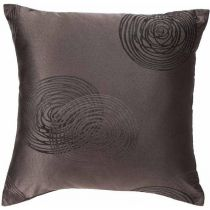"""Coussin """"Spirale"""" 40x40cm Taupe"""