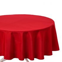 Nappe Antitache Ronde 180cm Rouge