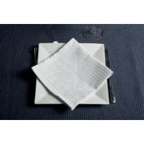 "Lot de 4 Serviettes de Table ""Nid d'Abeille"" Blanc"