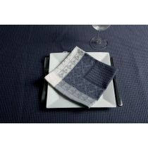 "Lot de 4 Serviettes de Table ""Nid d'Abeille"" Gris"
