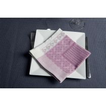 "Lot de 4 Serviettes de Table ""Nid d'Abeille"" Rose"