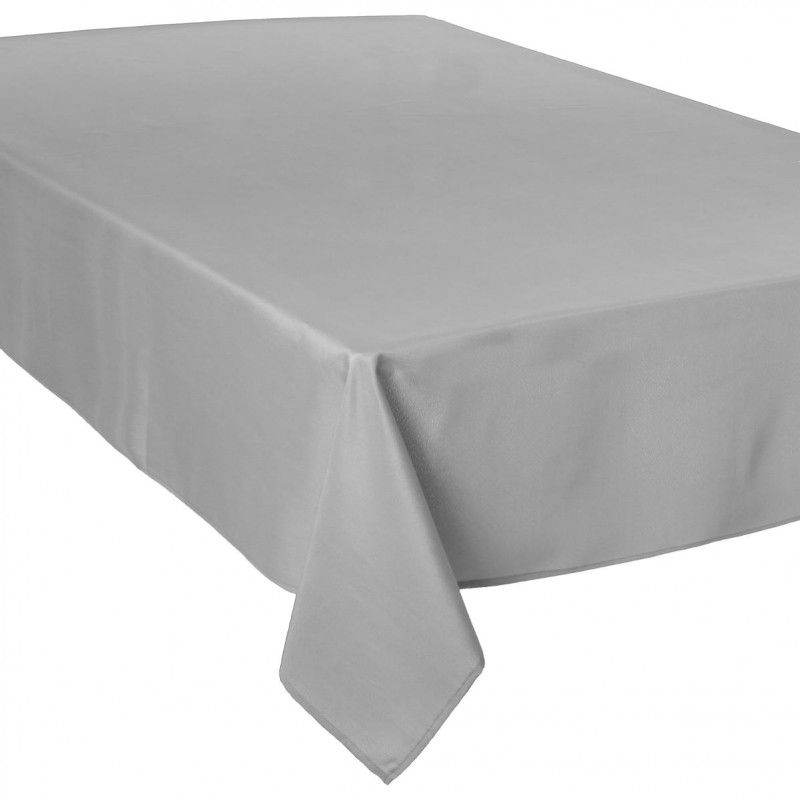 nappe antitache 150x300cm gris clair. Black Bedroom Furniture Sets. Home Design Ideas
