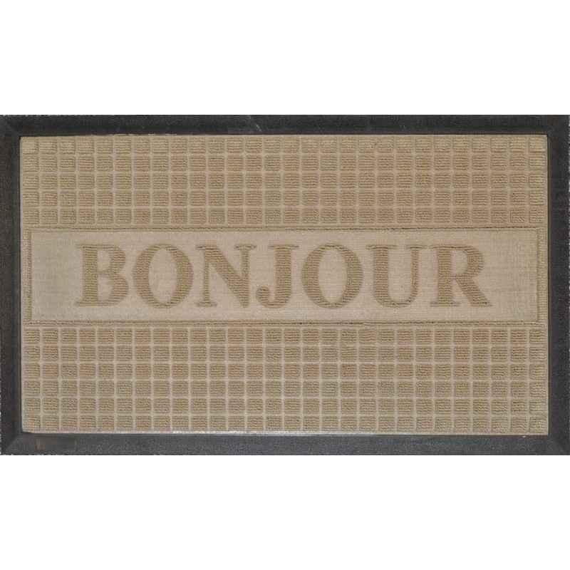 tapis d 39 entr e 45x75 cm bonjour naturel. Black Bedroom Furniture Sets. Home Design Ideas