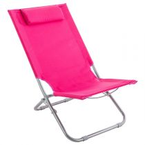 "Chaise de Plage ""Caparicia"" 103cm Rose"