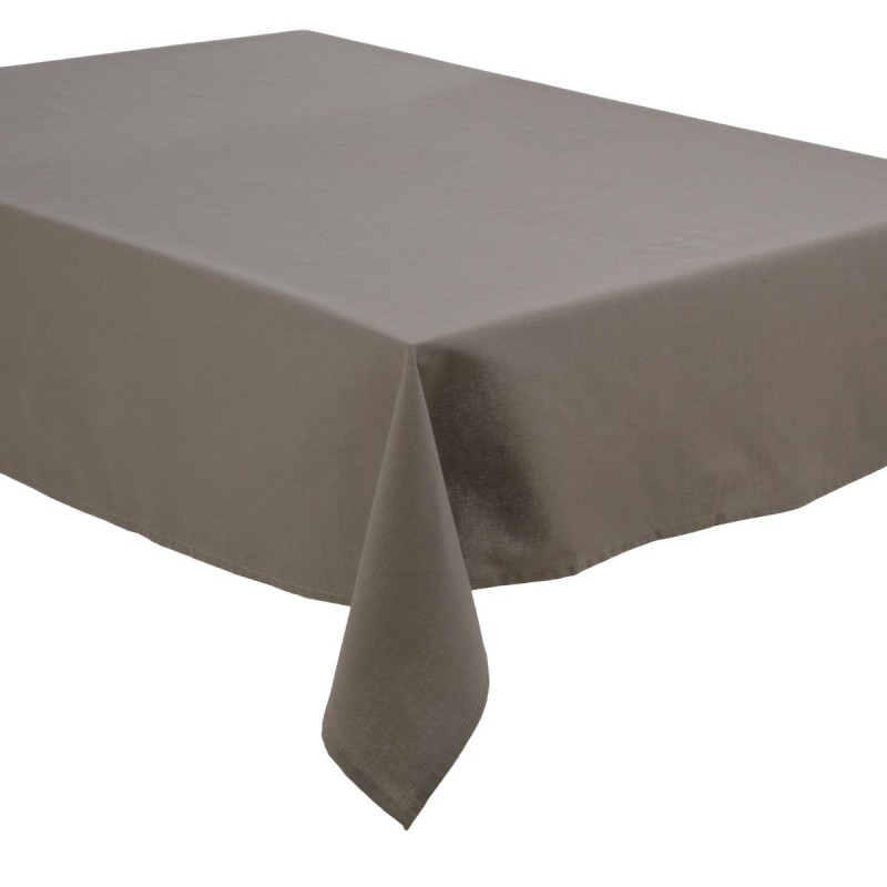 nappe antitache coton 140x240cm gris clair. Black Bedroom Furniture Sets. Home Design Ideas
