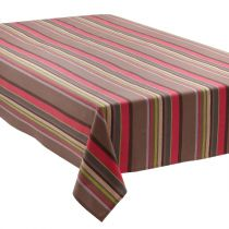 """Nappe """"Rayures"""" 140x240cm Taupe"""