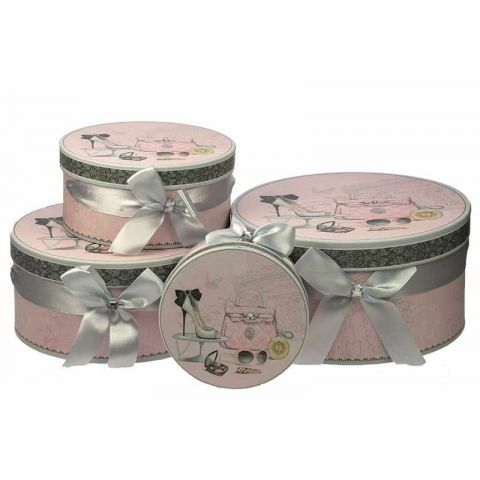 Set de 4 Boites Fashion Rose n°1