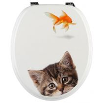 "Abattant WC ""Poisson Rouge"" 44cm Multicolore"