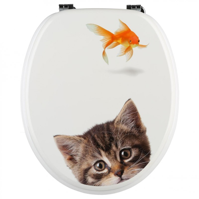 Abattant wc poisson rouge 44cm multicolore for Prix poisson rouge 15 cm