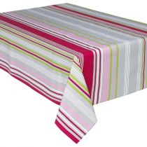 "Nappe Enduite Antitache ""Rayée"" 145x240cm Multicolore"