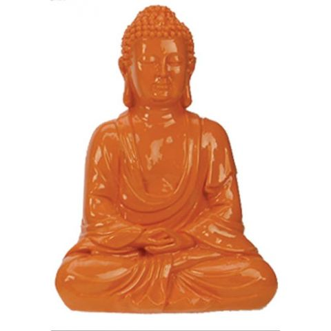 Statue Sakyamuni 18 cm Orange