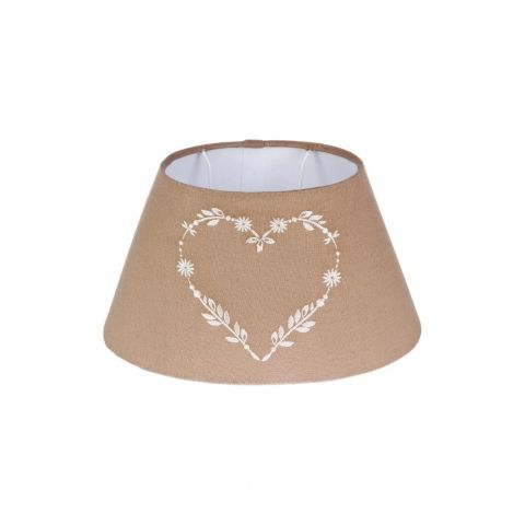 "Abat-Jour Oval ""Coeur"" 14cm Taupe"