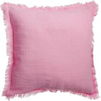 "Coussin ""Camp"" 40x40cm Framboise"
