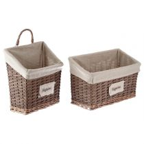 "Set de 2 Porte-Revues ""Chic"" Marron"