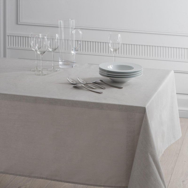 nappe rectangulaire isabelle 135x240cm gris clair. Black Bedroom Furniture Sets. Home Design Ideas