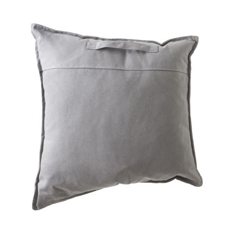 "Coussin Déhoussable ""District 9"" 70x70cm Gris Clair"