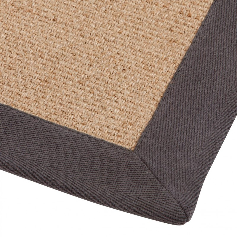 tapis jute 50x80cm gris fonc. Black Bedroom Furniture Sets. Home Design Ideas