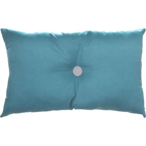 "Coussin ""Lovely D"" 30x50cm Turquoise"
