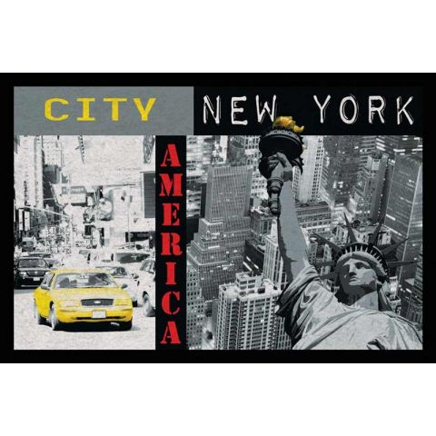 Tapis 40x60cm new york - Tapis chambre new york ...