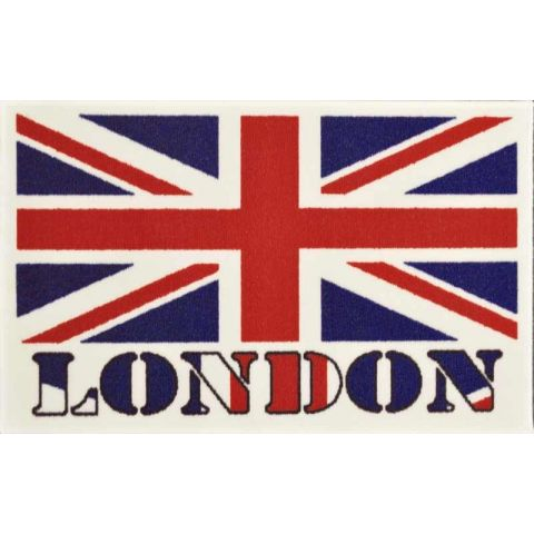 "Tapis Rectangulaire ""LONDON"" 50x80cm Multicolore"