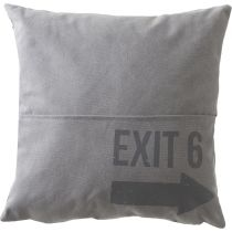 "Coussin ""District 9"" 45x45cm Gris Clair"