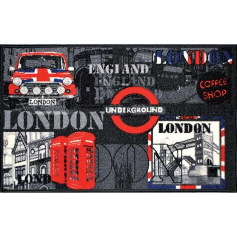"Tapis Rectangulaire ""SO BRITISH"" 50x80cm Multicolore"