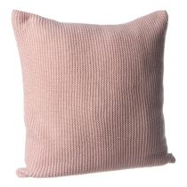 """Coussin """"Tricot"""" 40x40cm Rose"""