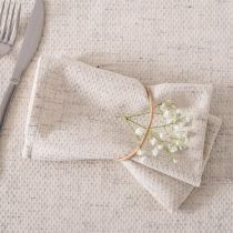 "Lot de 2 Serviettes de Table ""Marie"" 40x40cm Lin"