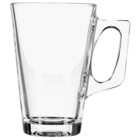 "Lot de 6 Mugs en Verre ""Anse Carrée"" 25cl Transparent"