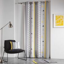 "Rideau ""Yellow Mix"" 140x260cm Multicolore"