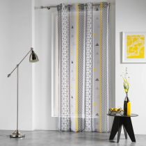 "Rideau Voilage ""Yellow Mix"" 140x240cm Multicolore"