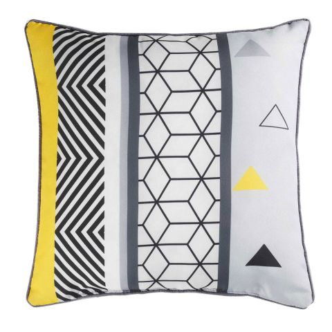 "Coussin Déco ""Yellow Mix"" 40x40cm Multicolore"