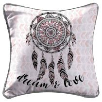 "Housse de Coussin ""Indian Dream"" 40x40cm Rose"