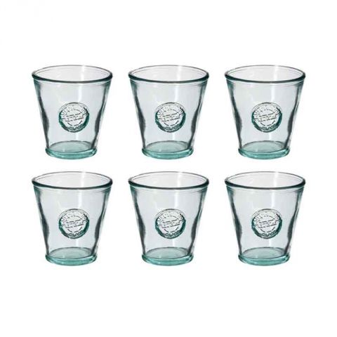 "Lot de 6 Gobelets en Verre ""Recyclé"" 22cl Transparent"