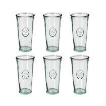 "Lot de 6 Gobelets en Verre ""Recyclé"" 27,5cl Transparent"