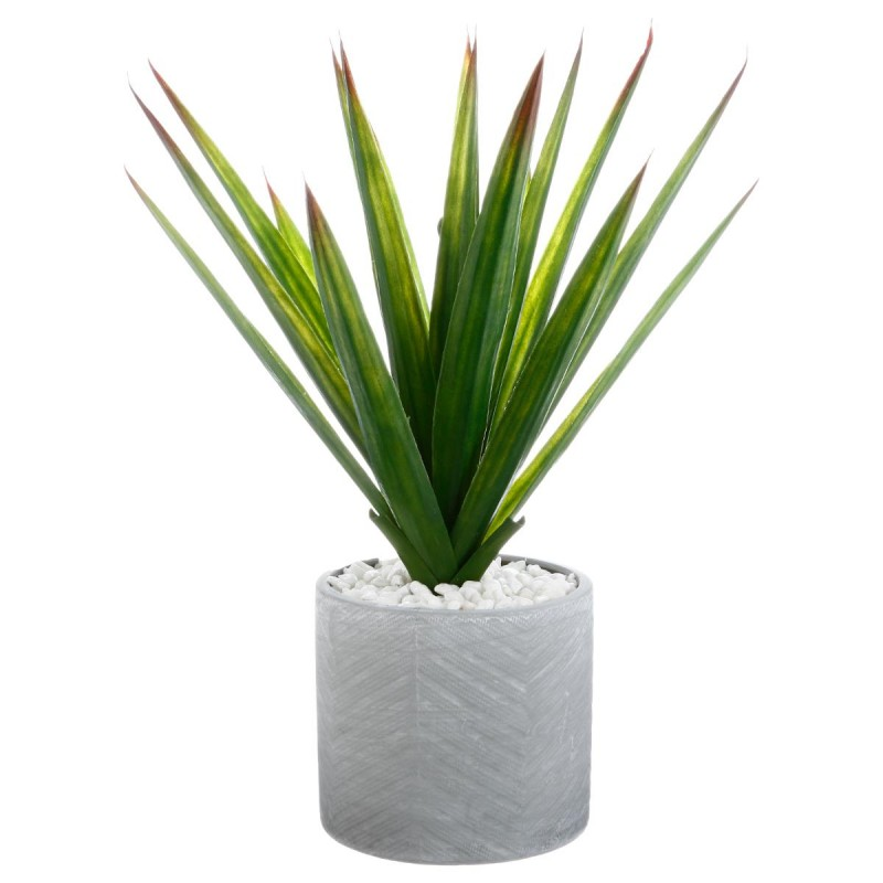 plante artificielle en pot aloe vera 49cm vert. Black Bedroom Furniture Sets. Home Design Ideas
