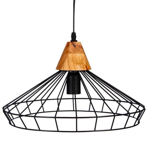 Lampe Suspension Métal 38cm Noir