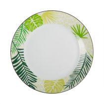 "Lot de 6 Assiettes à Dessert ""Jungle"" 19cm Vert"