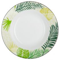 "Lot de 6 Assiettes Creuses ""Jungle"" 20cm Vert"