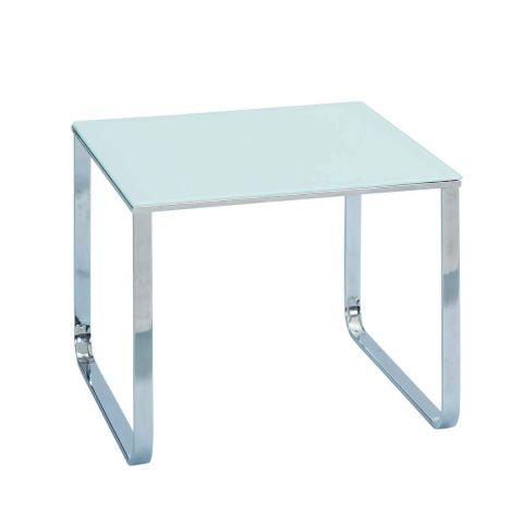 "Table d'Appoint Design ""Basy"" 55cm Blanc"