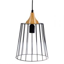 "Lampe Suspension en Métal ""Holtan"" 25cm Noir"
